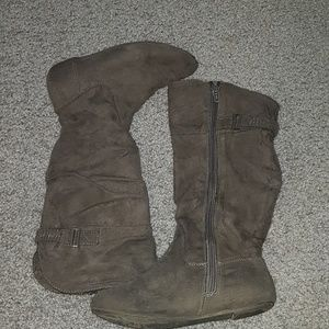 Other - Grey zip up girls boots. Worn.